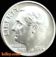 1960-D 10C Roosevelt Silver Dime BU