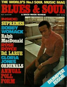 Blues & Soul Cover Magazine 1977  Bobby Womack The Supremes Gloria Jones Boney M