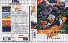 Deep Duck Trouble Sega Master System Replacement Box Art Case Insert Cover Scan