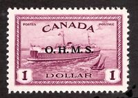 #O10 - Canada - 1949 - $1 - OHMS Ferry - MLH - VF -  superfleas - cv$80