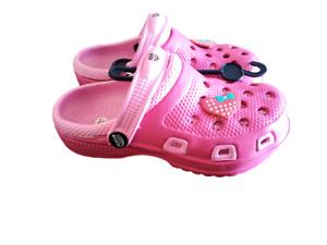 Clogs bambina ciabatte in gomma da bimba mare spiaggia rosa 30 31 32 33 34 35