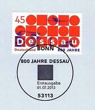 BRD 2013: Dessau 800 Jahre! Nr. 3019 mit dem Bonner Ersttagsstempel! 1A! 1810