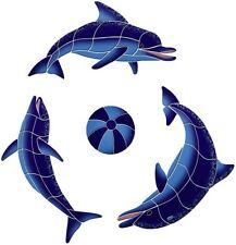 Playing Dolphins Ceramic Swimming Pool Mosaic