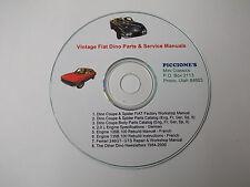 Vintage Fiat Dino Parts & Service Manuals