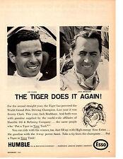 1966 JIM CLARK & JACK BRABHAM / WORLD GRAND PRIX  ~  ORIGINAL HUMBLE OIL AD
