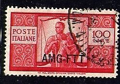 1949 Trieste A Democratica 100 lire fil ND II lastra us