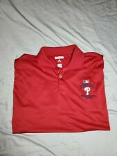 Philadelphia Phillies 2008 World Series MLB red Polo Shirt LARGE Antigua