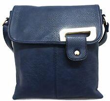 Ladies Faux Leather Casual Messenger Satchel Shoulder Across Body Bag Handbag