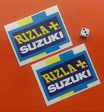 "X2 RIZLA SUZUKI Sticker Decal 4"" x 3"" Suzuki Classic motorbike 7-10 year vinyl"