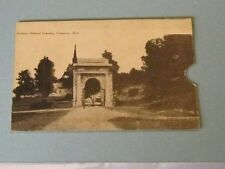 1900 Era National Cemetery Vicksburg Mississippi Rppc Real Photo Slot Postcard