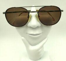 Vintage Van Heusen Archer Tortoise Gray Metal Aviator Sunglasses Frames Only