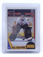 1987-1988 Bill Ranford #13 Boston Bruins OPC O-Pee-Chee Ice Hockey Card H621