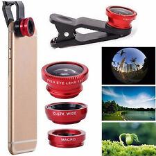 3 in 1 Mobile Phone Camera Lens Kit Fish Eye + Wide Angle + Macro Samsung iPhone