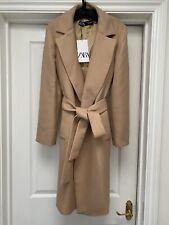 Bnwt Zara Camel Belted Coat Size S. RRP £89.99