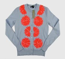 NWT J Crew Embellished Sequin Jackie cardigan sweater Sz L Faded Peri G0582