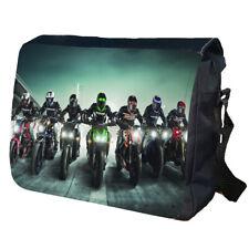 Racing Bike Bikers Motorbike  Personalised School Shoulder Messenger Bag