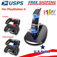 For PS4 Slim & Pro Dual Controller USB LED Charging Fast Charger Dock Station
