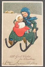 PFB u/s Flatscher Big Brother & Little Sister Sledding in the Snow Christmas pc