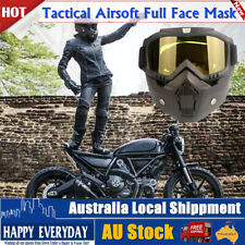 Tactical Fast Full Face Mask Hunting CS Field Paintball Army Airsoft War Game
