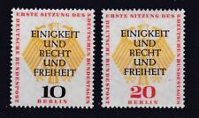 Berlin 1957 postfrisch MiNr. 174-175   Deutschen Bundestages in Berlin