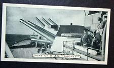 HMS RODNEY    Royal Navy Battleship  16 Inch Guns   Original Photo Card  VGC