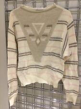 VINTAGE 70 s Giusi SLAVIERO Pullover sweater Taille S/M laine angora Navaho Italie