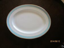 "Royal Crown Derby Fifth Avenue 15"" Platter White/Aqua/Gold"