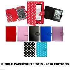 Para Amazon Kindle Paperwhite de Cuero PU Estuche Cubierta de 2013 a 2018, GEN 3 a 10