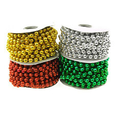 Plastic Mot Pearl Beads Garland Ribbon, 8mm, 10mm