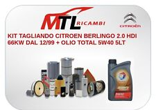 KIT TAGLIANDO CITROEN BERLINGO 2.0 HDI 66KW DAL 12/99 + OLIO TOTAL 5W40 5LT