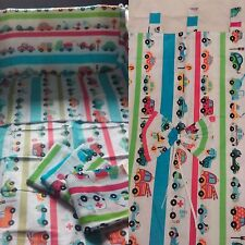 2-6 Pcs Baby Bedding Nursery Set 120x90 or 135x100 cm Antiallergic- Cars on road