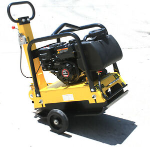 Heavy Duty Large Plate Walk Behind Vibratory Dirt Plate Compactor Rammer w/Tank