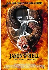 Friday the 13th Part 9 Jason Goes to Hell - A4 Laminated Mini Movie Poster