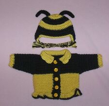 American Girl Doll Clothes Yellow Bumble Bee Sweater Hat Fits American Girl 18""