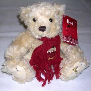 Harrods Knightsbridge Teddy Bear Rufus 2009 3007/1 1801843 w/ Maroon Scarf. NEW!