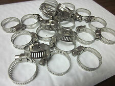 """20pc 1"""" CLAMP STAINLESS STEEL HOSE CLAMPS 5/8"""" - 1"""" GOLIATH INDUSTRIAL TOOL"""