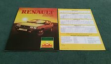 1984 RENAULT JOURNAL Fuego 18 4 5 9 11 20 F6 FUEGO TURBO SPRING 1984 UK BROCHURE