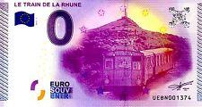 """Billet touristique zéro 0 euro souvenir 2015 """"LE TRAIN DE LA RHUNE"""""""
