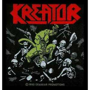 KREATOR -  PLEASURE TO KILL - WOVEN SEW ON PATCH - OFFICIAL MERCHANDISE