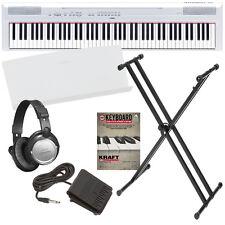 Yamaha P-115 Digital Piano - White BONUS PAK