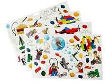 Lego ® Set Lot x4 Planches de Stickers Muraux 50x35 cm Déco Chambre Enfant NEW