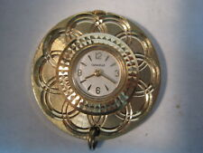 Vintage CARAVELLE Swiss Ladies Goldtone Wind Up Pendant Watch