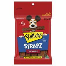Schmackos Beef Strapz Dog Treat 200gm X 8