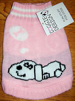NEW Size XS Pink Dreaming Dog Mockneck Sweater Dog Clothes