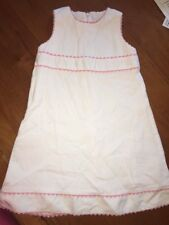 Chateau de Sable Dress size 4 White Pink Rickrack Trim
