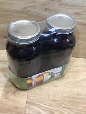 BALL Half Gallon Mason Jar Wide Mouth Amber Glass 64oz Canning Decor