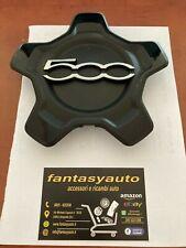 Fiat 500X Coppetta Coprimozzo Borchia Ruota Cerchio in Lega Nero
