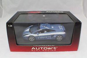 Autoart 1-24 Lamborghini Gallardo Police Car Slot Car Never run(NOS) #14741