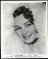 ROSEMARY LANE FACE FRAMED IN FUR Original Vintage circa 1940 PORTRAIT Photo