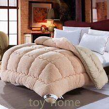 Hot Wool Patchwork Duvets Super Warm Comforter Camel Quilt Thicken Duvets Winter